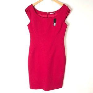 (NWT) TAHARI Pepita Piazza Pink Dress
